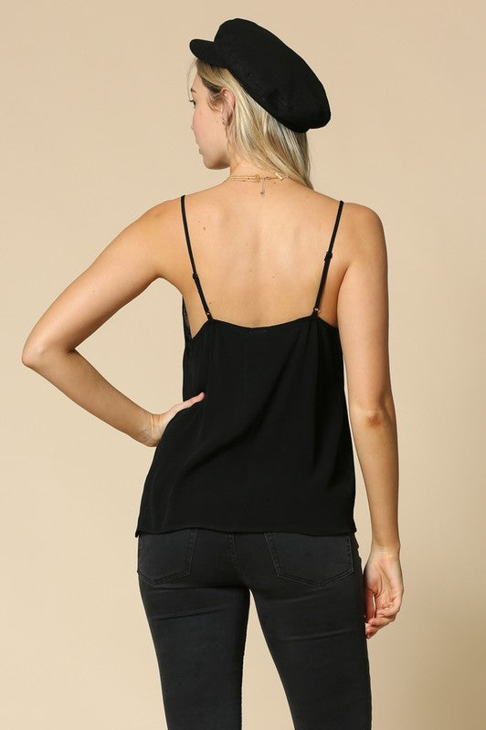 The Lucy Lace Trimmed Camisole - Beau&Arrow