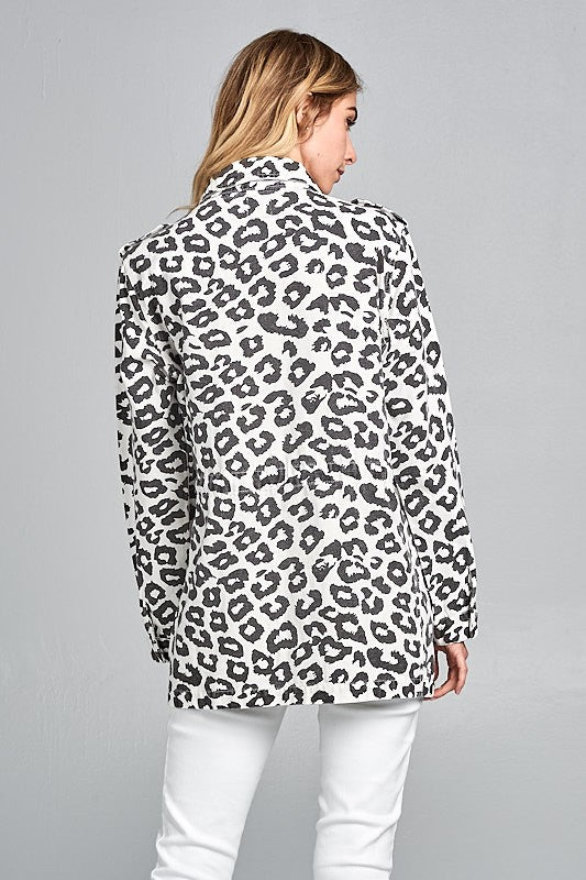 Leopard Print Jacket - Beau&Arrow