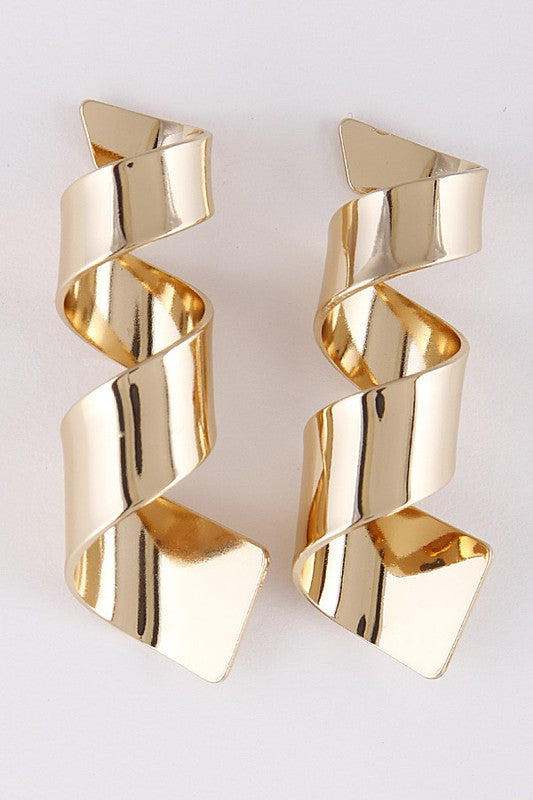Metallic Curly Earrings - Beau&Arrow