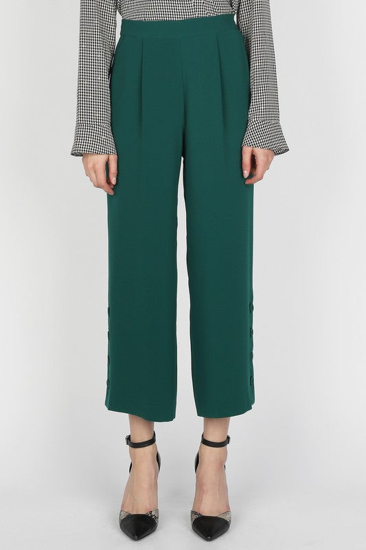 The Emerald cropped culottes - Beau&Arrow