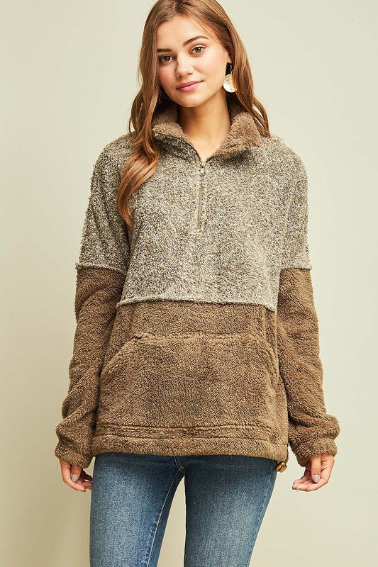 The Kara Sherpa Pullover