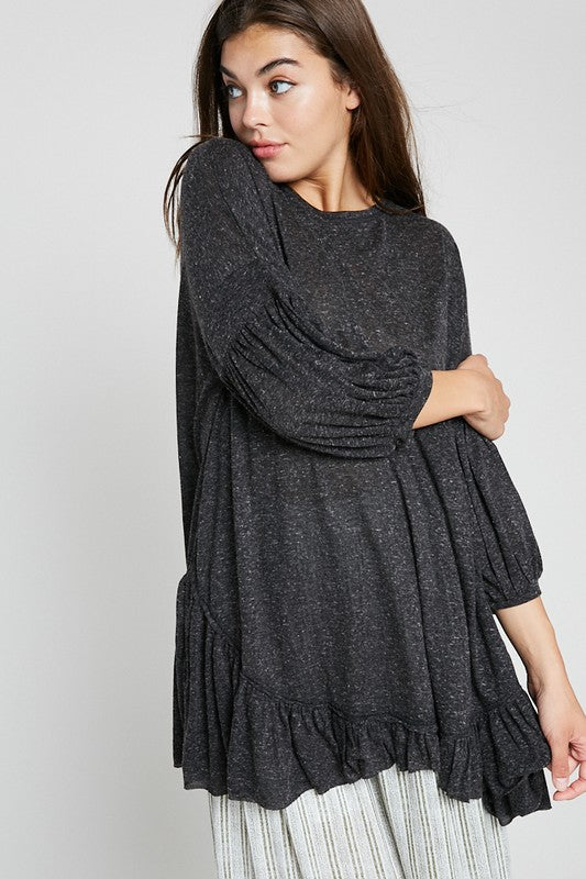 The Billie Ruffle Hem Tunic