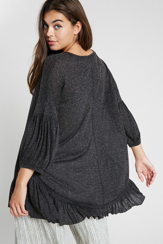 The Billie Ruffle Hem Tunic - Beau&Arrow