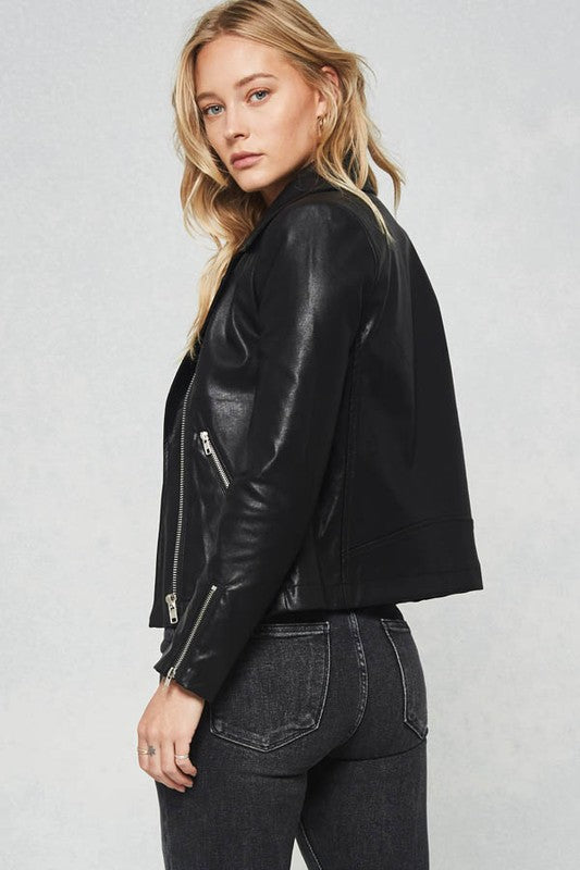 The Laura Vegan Leather Jacket - Beau&Arrow