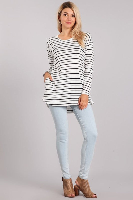 Striped Top - Beau&Arrow