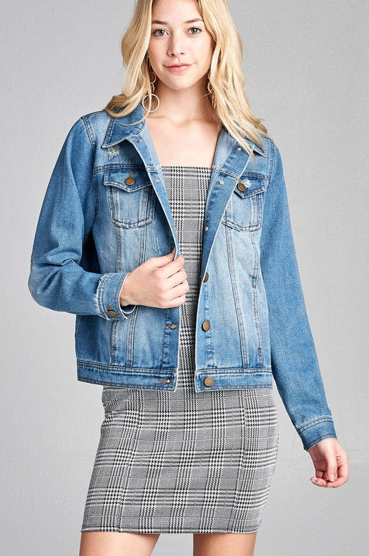 The Blythe Denim Jacket - Beau&Arrow
