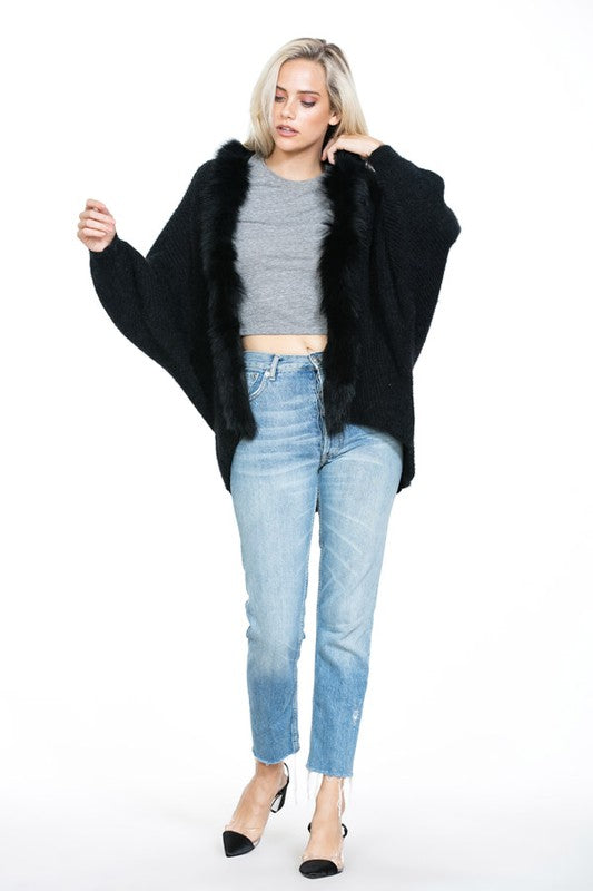 Long Sleeve Sweater with Fur - Beau&Arrow