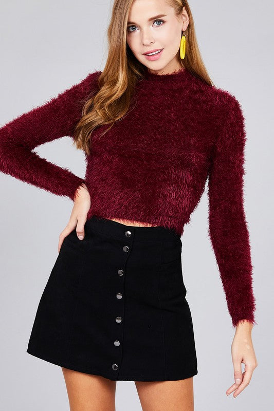 The Tiffany Fuzzy Crop Top