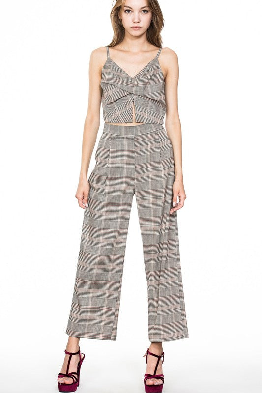 Plaid Crop Top - Beau&Arrow