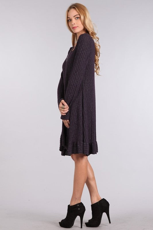 Frill Hem Dress - Beau&Arrow