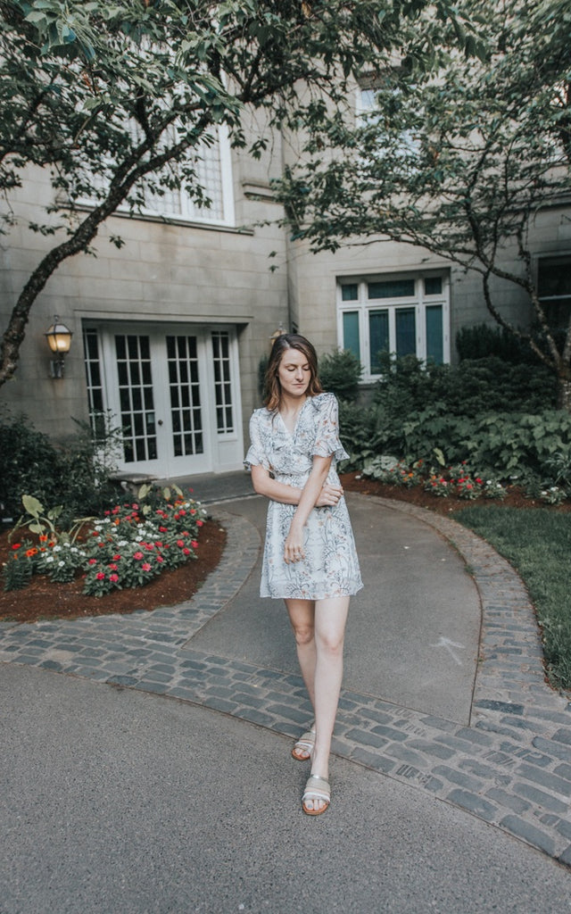 The Birdie Floral Dress - Beau&Arrow