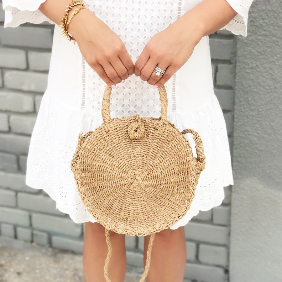 The Adelle Straw Bag - Beau&Arrow