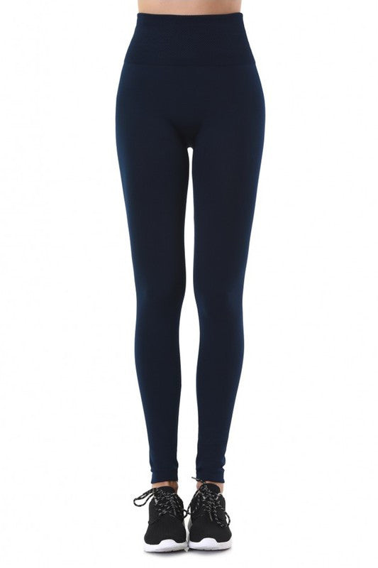 "Fleece Lined ""Tummy Tuck"" Slimming Leggings - Beau&Arrow"