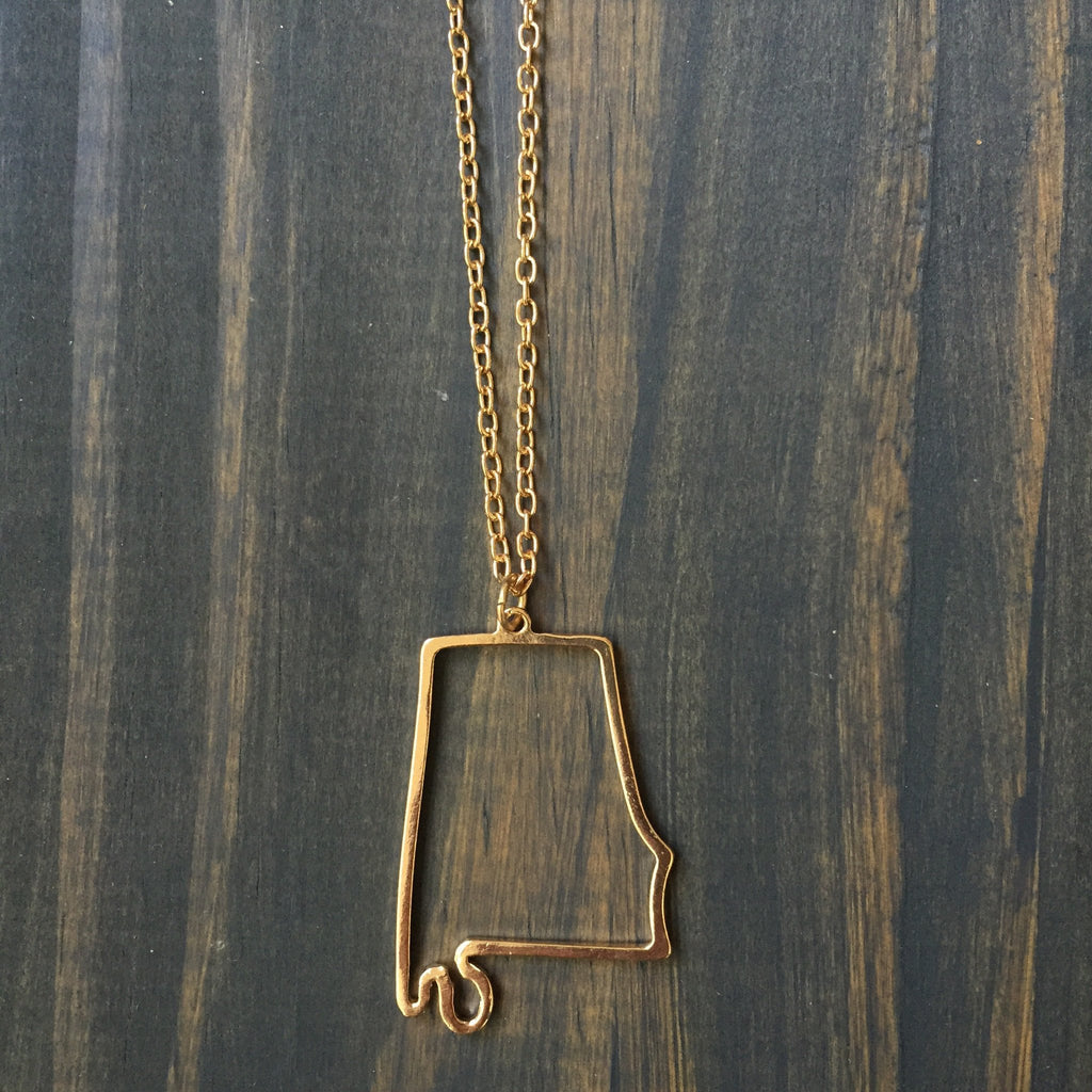 Accessories - Alabama Outline Necklace