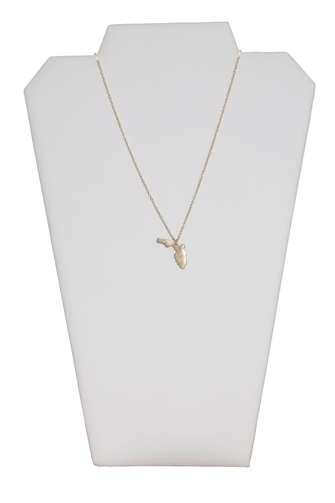 Dainty Florida State Pendant Necklace - Beau&Arrow
