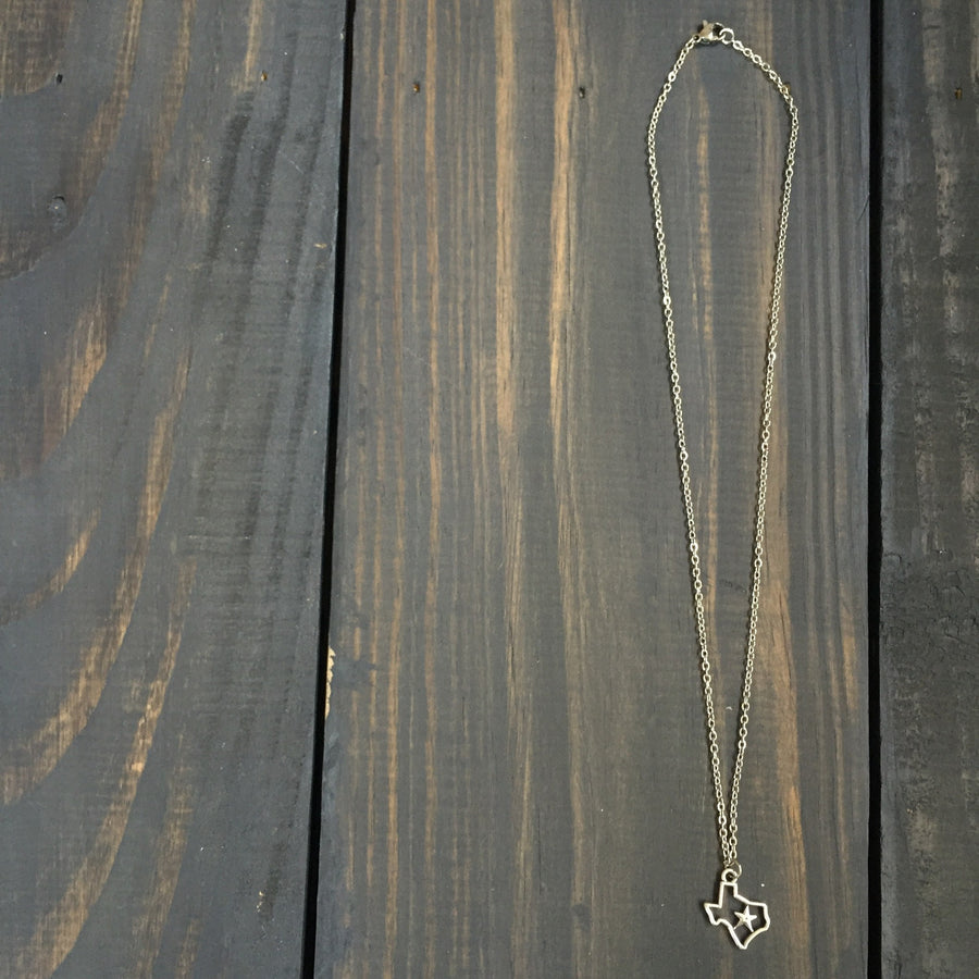 Accessories - Dainty Silver Texas Necklace