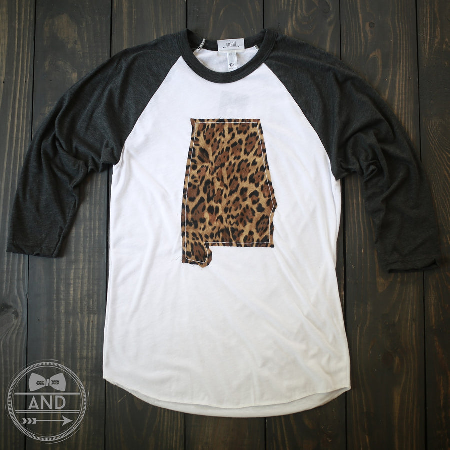 Alabama Apparel - Alabama Outline Baseball Tee-Call Of The Wild