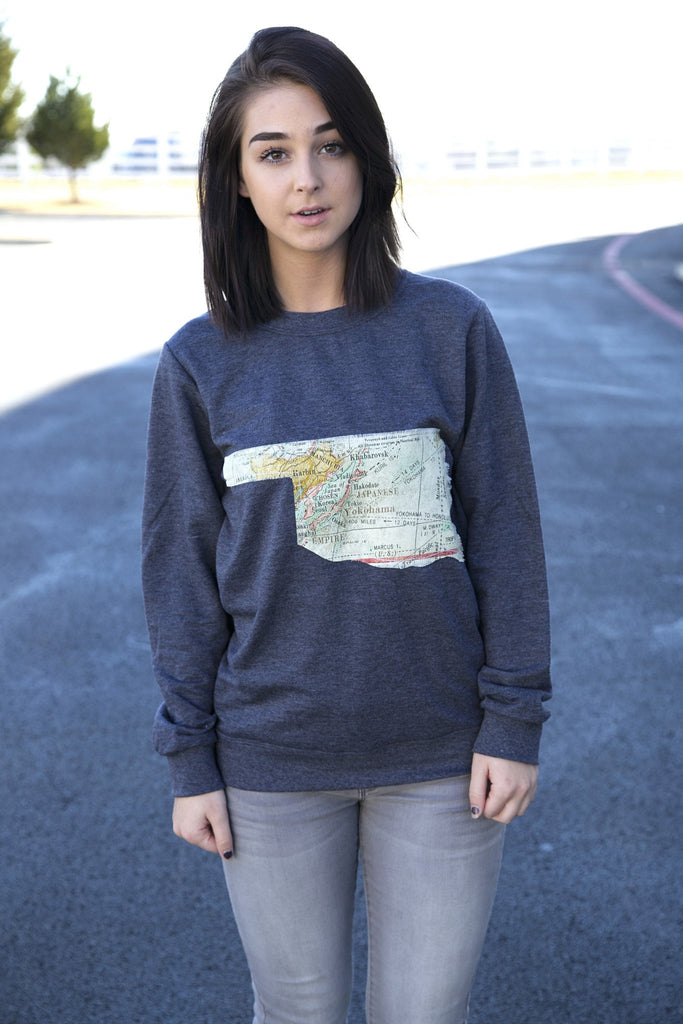 Arkansas Outline Charcoal Pullover-Call of the Wild - Beau&Arrow