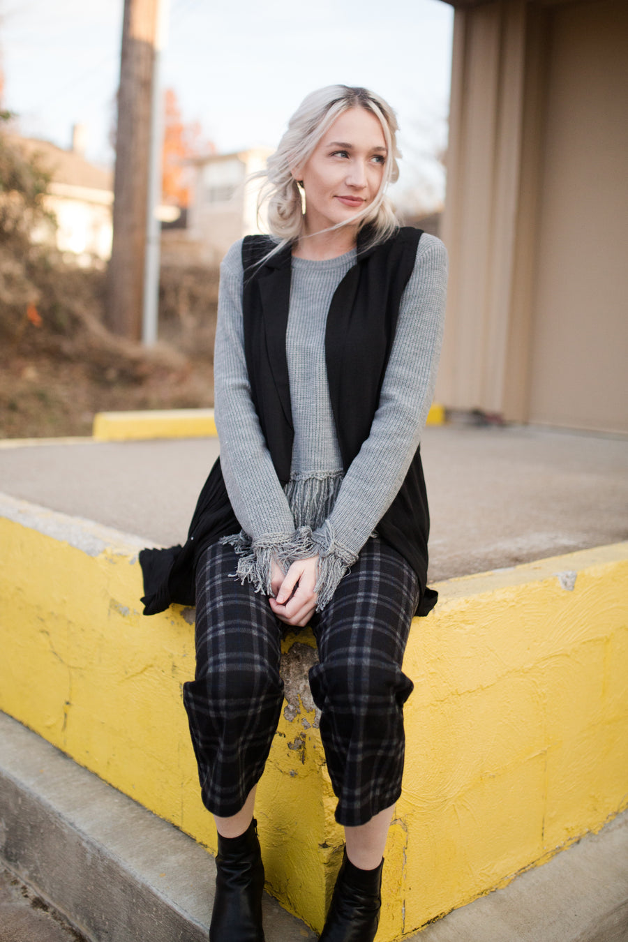Check Me Out Plaid Culotte Pants - Beau&Arrow