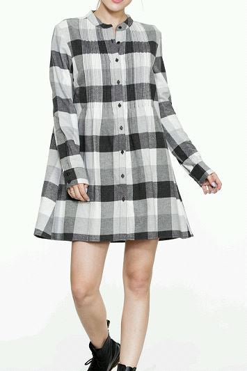 Long Sleeve Shirt Dress - Beau&Arrow