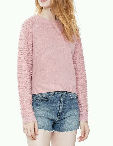 LONG SLEEVE MAUVE SWEATER - Beau&Arrow