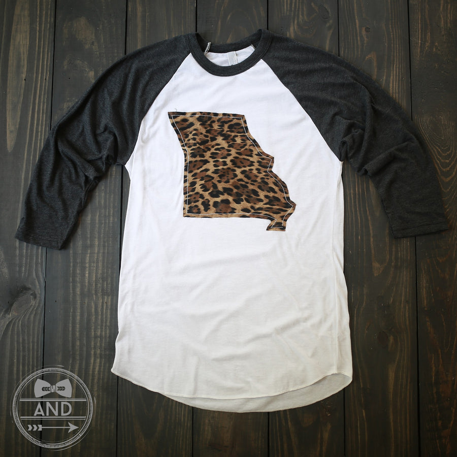 Missouri Apparel - Missouri Outline Baseball Tee-Call Of The Wild