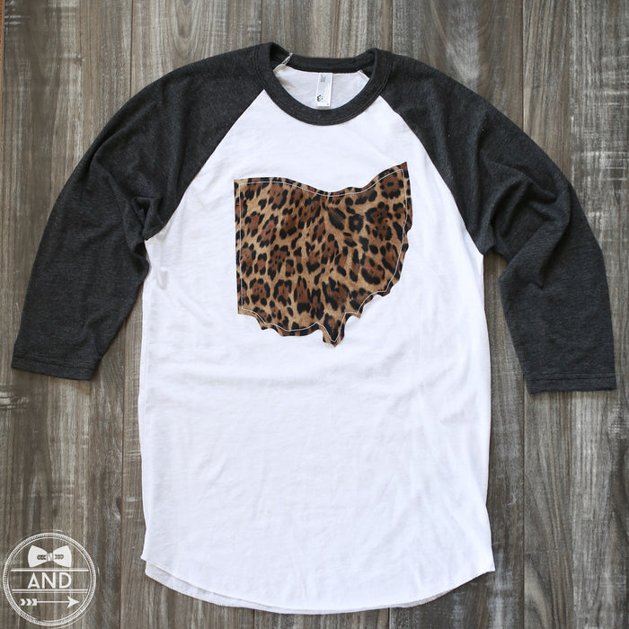 Ohio Apparel - Ohio Outline Baseball Tee-Call Of The Wild