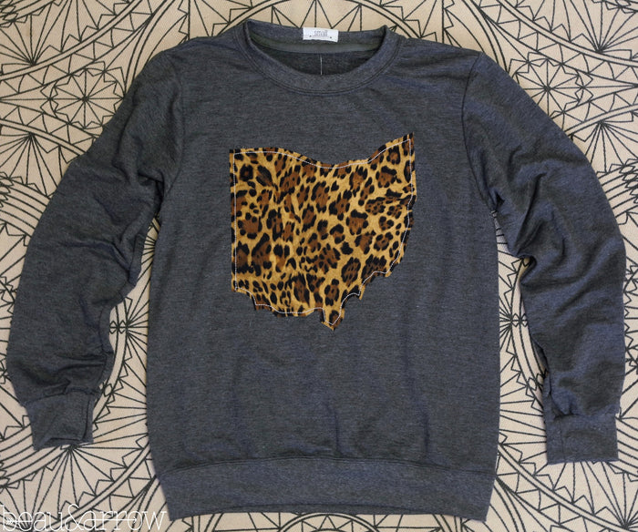 Ohio Apparel - Ohio Outline Charcoal Pullover-Call Of The Wild (Ships Nov 3rd)