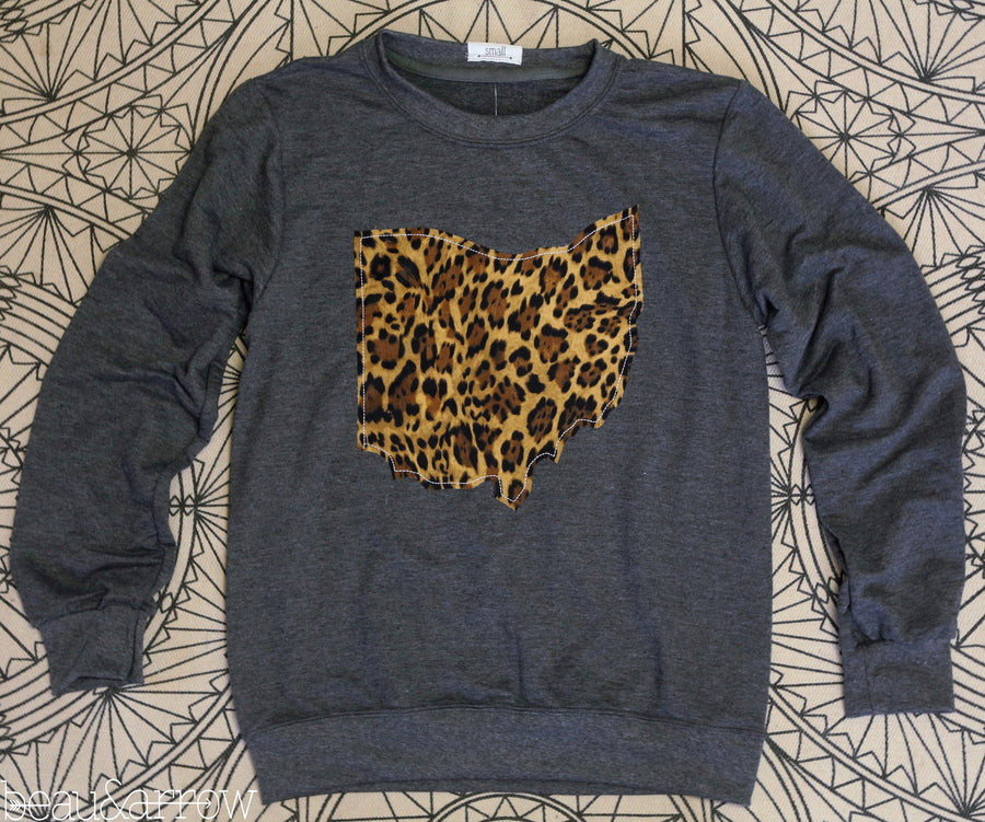 Ohio Outline Charcoal Pullover-Call of the Wild - Beau&Arrow