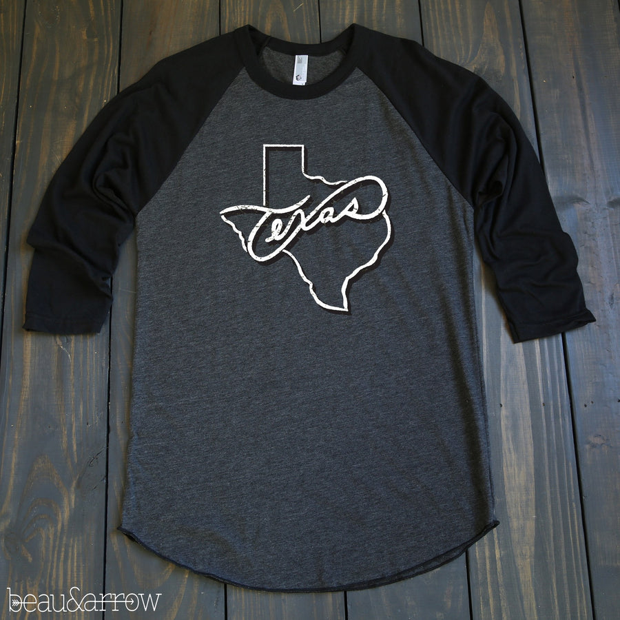 "State Tradition Baseball Tee-""Texas"""