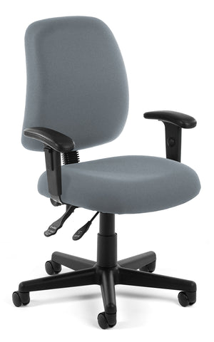 POSTURE TASK CHAIR WITH ARMS - GRAY