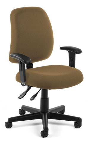 POSTURE TASK CHAIR WITH ARMS - TAUPE