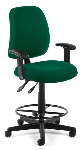 POSTURE TASK CHAIR W/ARMS + DK - GREEN