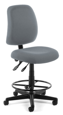 POSTURE TASK CHAIR WITH DRAFT KIT - GRAY