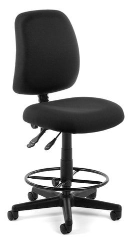 POSTURE TASK CHAIR WITH DRAFT KIT- BLACK