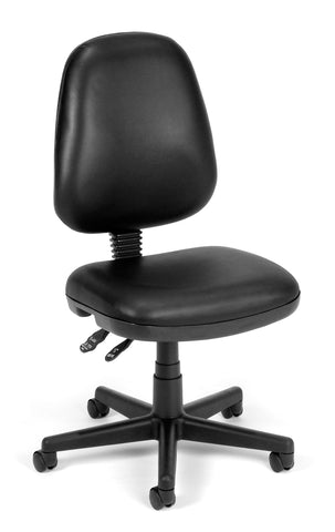 COMPUTER TASK CHAIR-BLACK VINYL