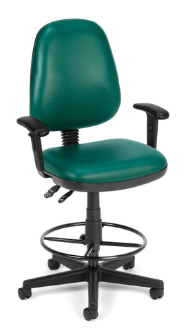 COMPUTER TASK CHAIR W/ARMS-DK-TEAL