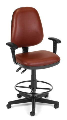 COMPUTER TASK CHAIR W/ARMS-DK-WINE