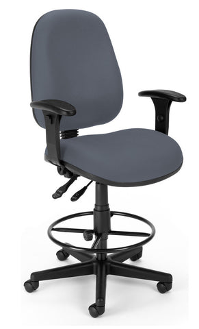 6 FUNCTION EXEC/TASK CHAIR W/DK - GRAY