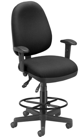 6 FUNCTION EXEC/TASK CHAIR W/DK - BLACK