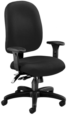 SUPER TASK COMPUTER CHAIR - BLACK
