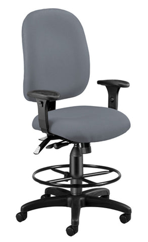 SUPER TASK COMPUTER CHAIR W/DK - GRAY