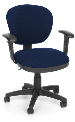 COMPUTER CHAIR W/ARMS - 119 BLUE