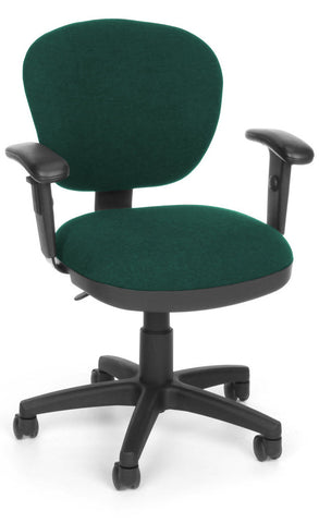 COMPUTER CHAIR W/ARMS - 120 TEAL