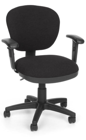 COMPUTER CHAIR W/ARMS - 126 BLACK