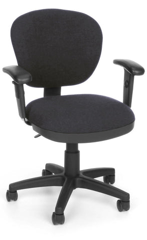 COMPUTER CHAIR W/ARMS - 128 GREY