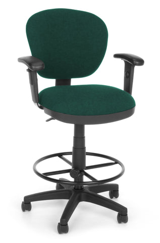 COMPUTER CHAIR W/ARMS+DK - 120 TEAL