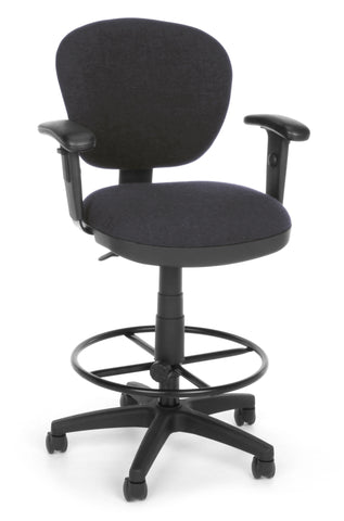 COMPUTER CHAIR W/ARMS+DK - 128-GRAY