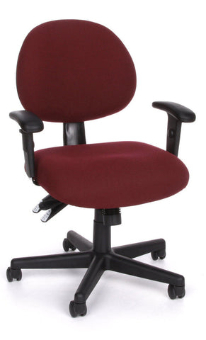 24/7 COMPUTER TASK CHAIR W/ARMS-201-BURG