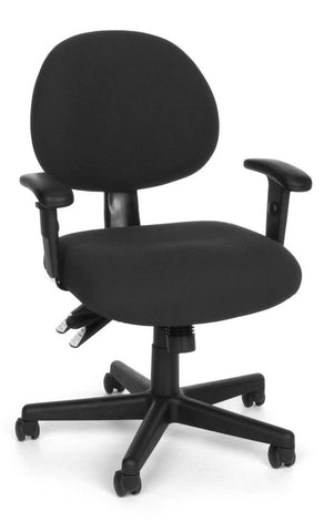 24/7 COMPUTER TASK CHAIR W/ARMS-206-BLK